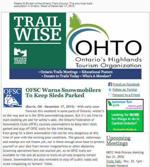 Trailwise - news from Ontario's Trails